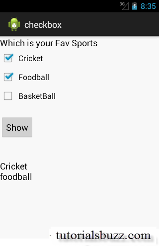 Android CheckBox Example