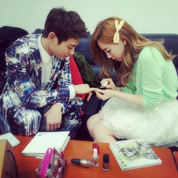 (CAP) Instagram/ Mi Super y lindo Minho 130420+taeyeon+Minho
