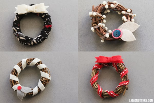 These wreaths would make cute ornaments or gifts i m going to put