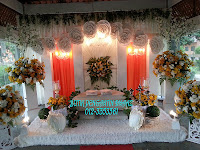 Pelamin 3 Panel fresh flower
