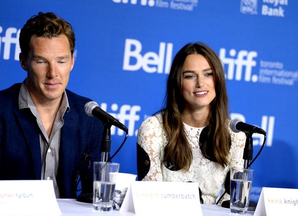 Cumberbatch y Knightley en Toronto