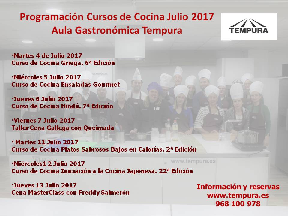 Cursos de Cocina del Aula Gastronómica Tempura