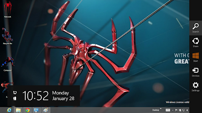 The Amazing Spider Man 4 Theme For Windows 8, The Amazing Spider Man 4 Windows 8 Theme