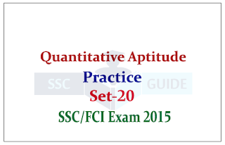 Quantitative Aptitude for SSC CGL Mains/FCI Exam
