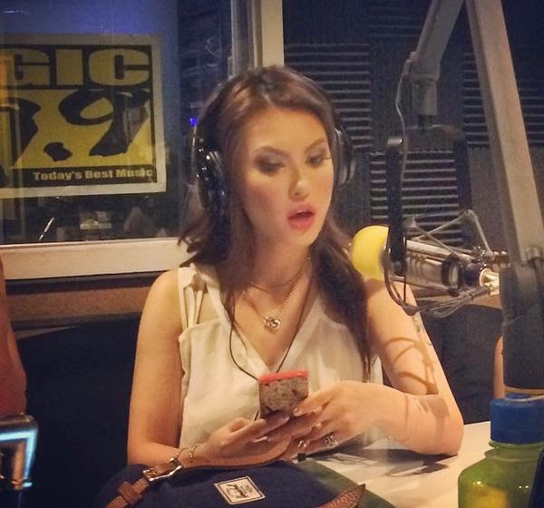 "Maria Ozawa on the radio show ""Boys Night Out"" on Magic 89.9"