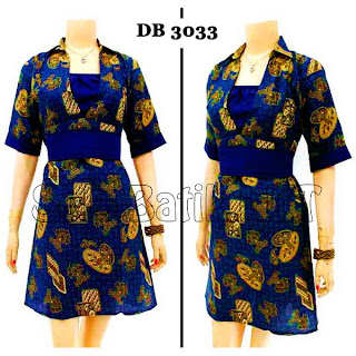 DB3033 Model Baju Dress Batik Modern Terbaru 2013