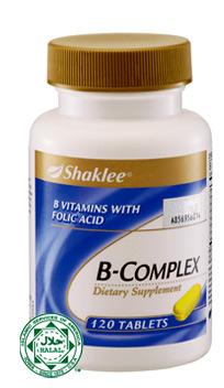 bcomplex shaklee, vitamin untuk pelajar cergas dan bijak
