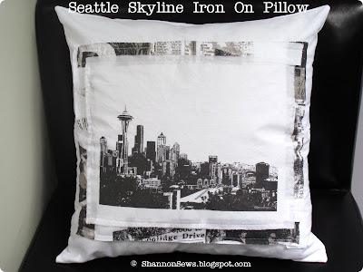 Turn pictures into iron-ons for unique handmade pillow cases