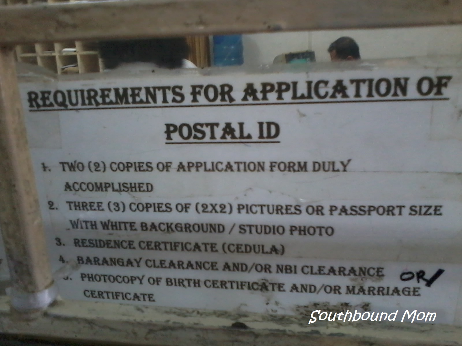 Southbound mom always looking for the best items for my family postal id requirements aiddatafo Choice Image