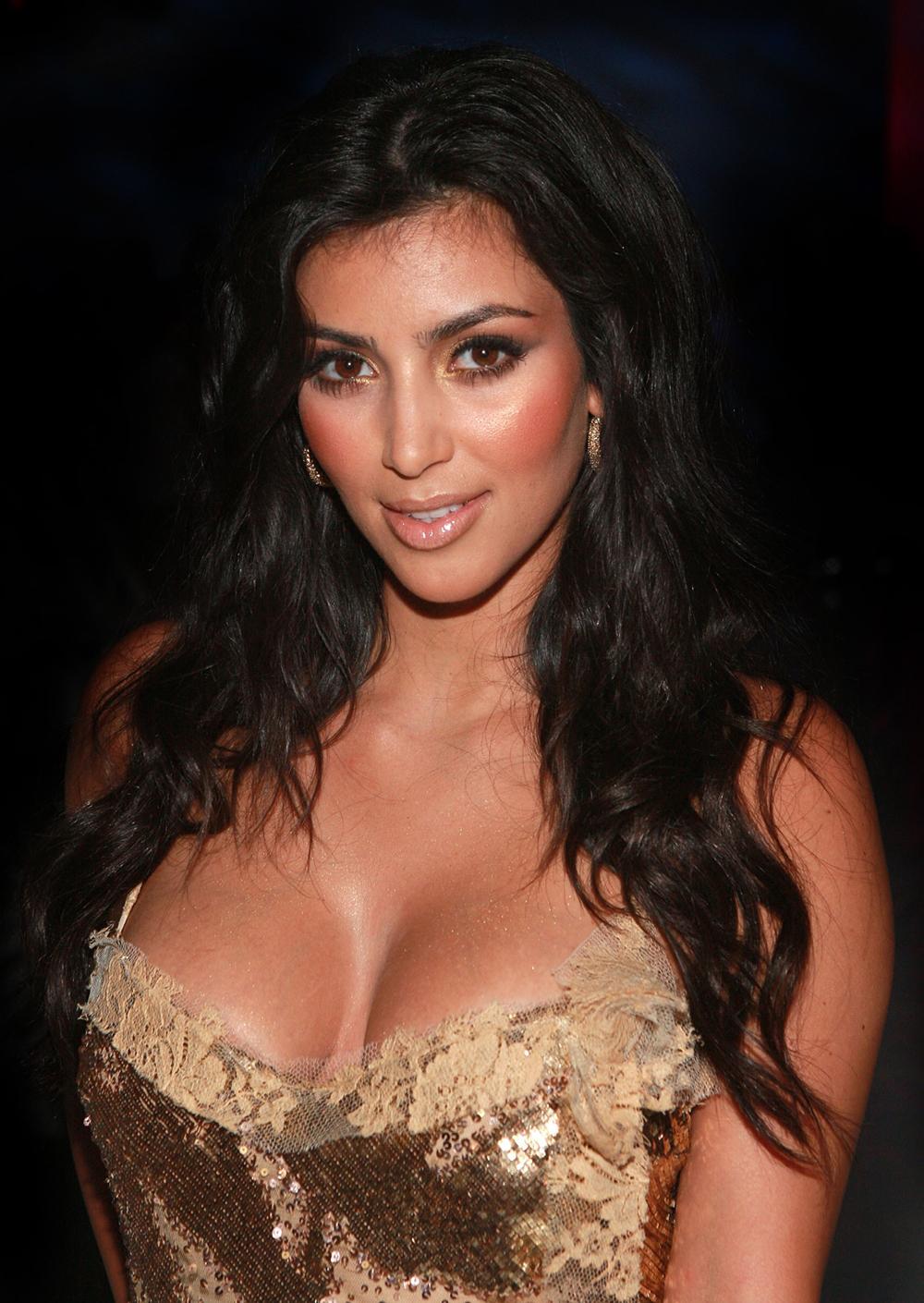 Kim Kardashian Dark Hair Color 07