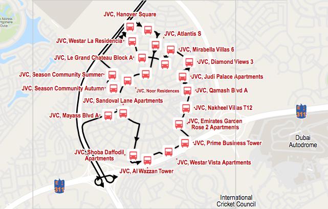 JVC Community Jumeirah Village Circle Dubai Transport
