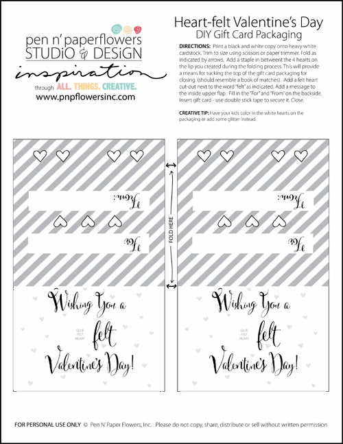 Heartfelt valentines day gift card by pen n paper flowers skip supplies you will need mightylinksfo