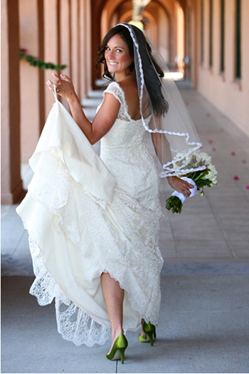 Bride With Green Shoes