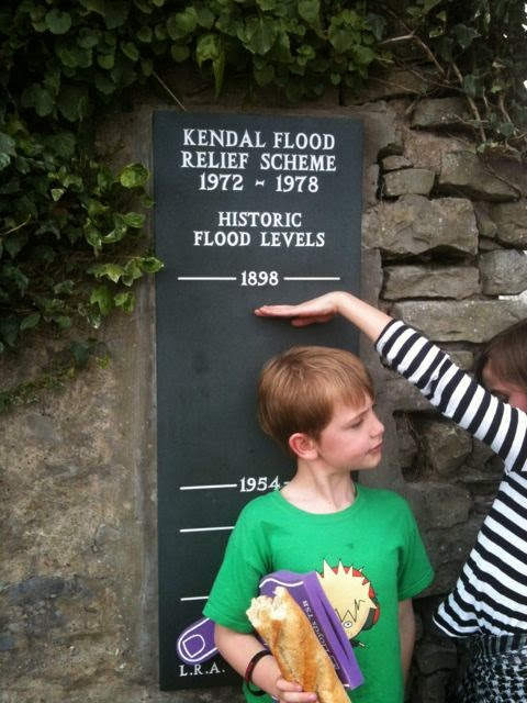 Kendal historic flood levels as height measure