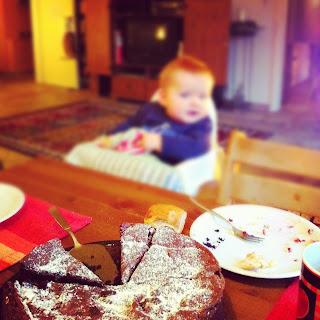 Schokokuchen Geburtstagsparty mit Little Johnny
