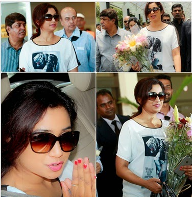 Shreya Ghoshal Arrived To Sri Lanka Photos