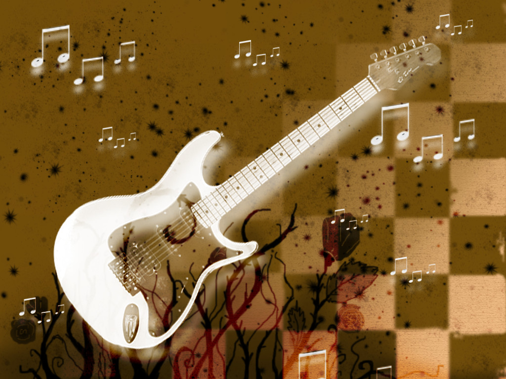 Cute Guitar Wallpaper
