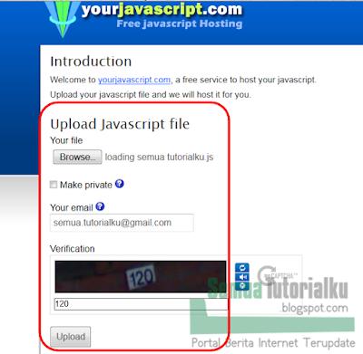 Cara Hosting Javascript Gratis di yourjavascript.com
