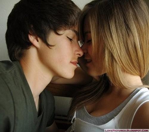 couple love kiss girl boy