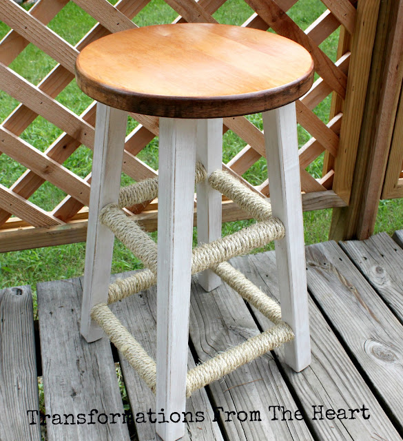 diy sisal bar stool
