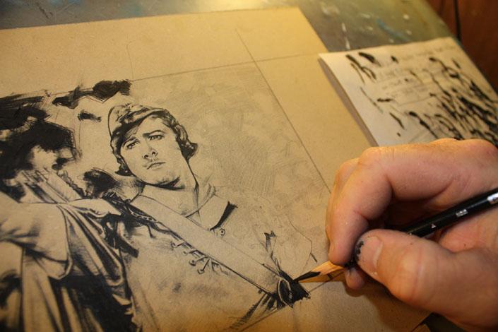 Errol Flynn as Robin Hood, Artwork Copyright © 2014 Jeff Lafferty