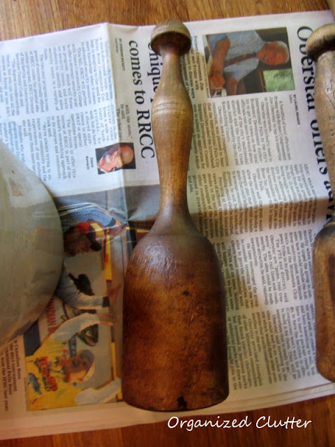 Coconut Oil On Vintage Wooden Utensils