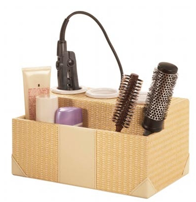 Kangaroom has a hair styling station in rattan, with ceramic interior ...
