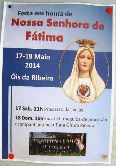 FESTA EM HONRA DE NOSSA SENHORA DE FÁTIMA