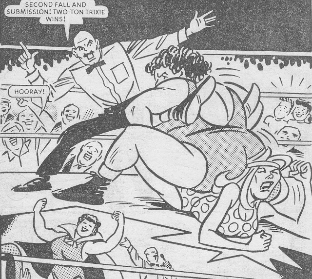 womens wrestling comics - female wrestling art