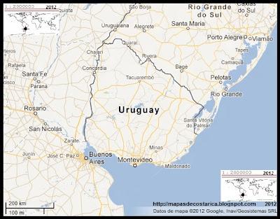 Mapa de URUGUAY, Google Maps