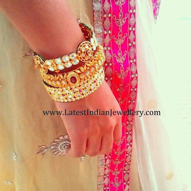 Tanishq Designer Gold Bangles