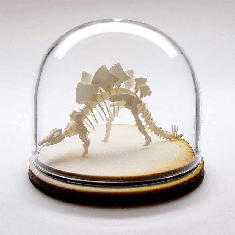 Kits de bricolaje de esqueletos de papel en miniatura por Tinysaur