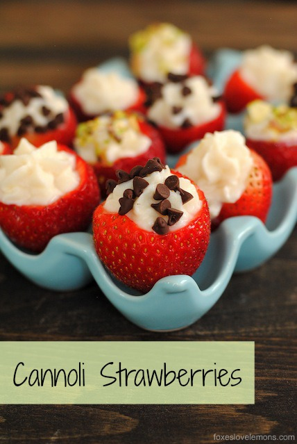 Cannoli Strawberries