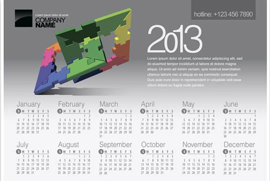 Creative Calendar Template : Let s share the world of fantasy creative calendar for