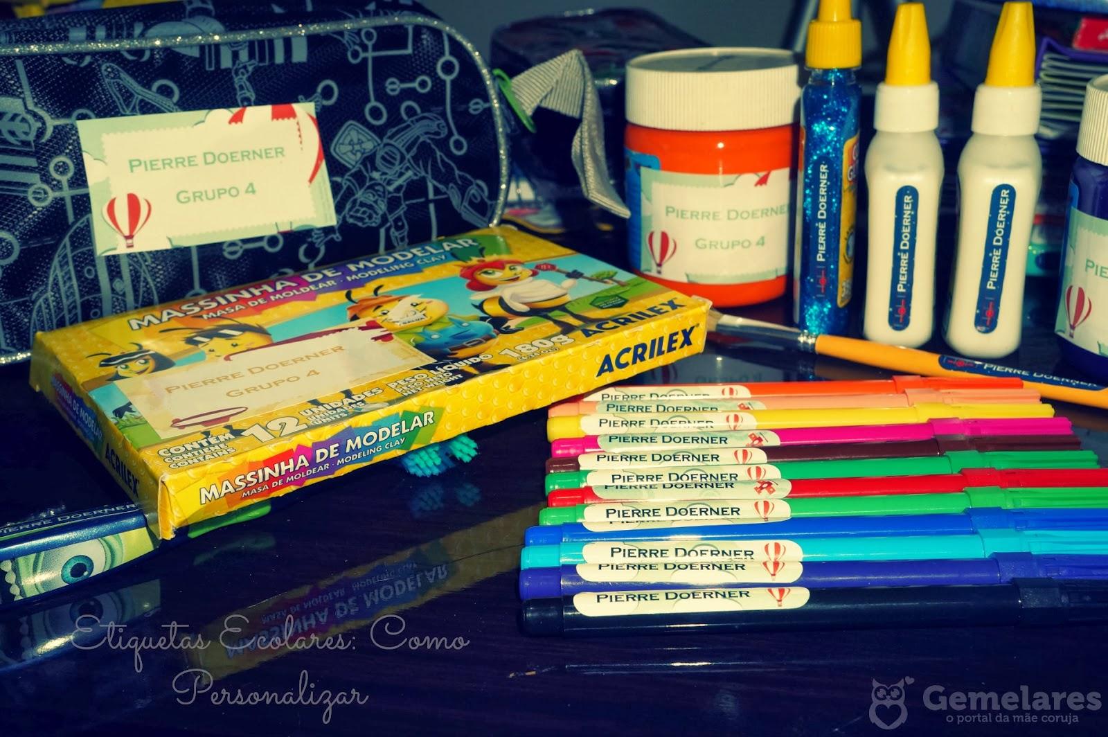 Etiquetas Escolares: Como personalizar