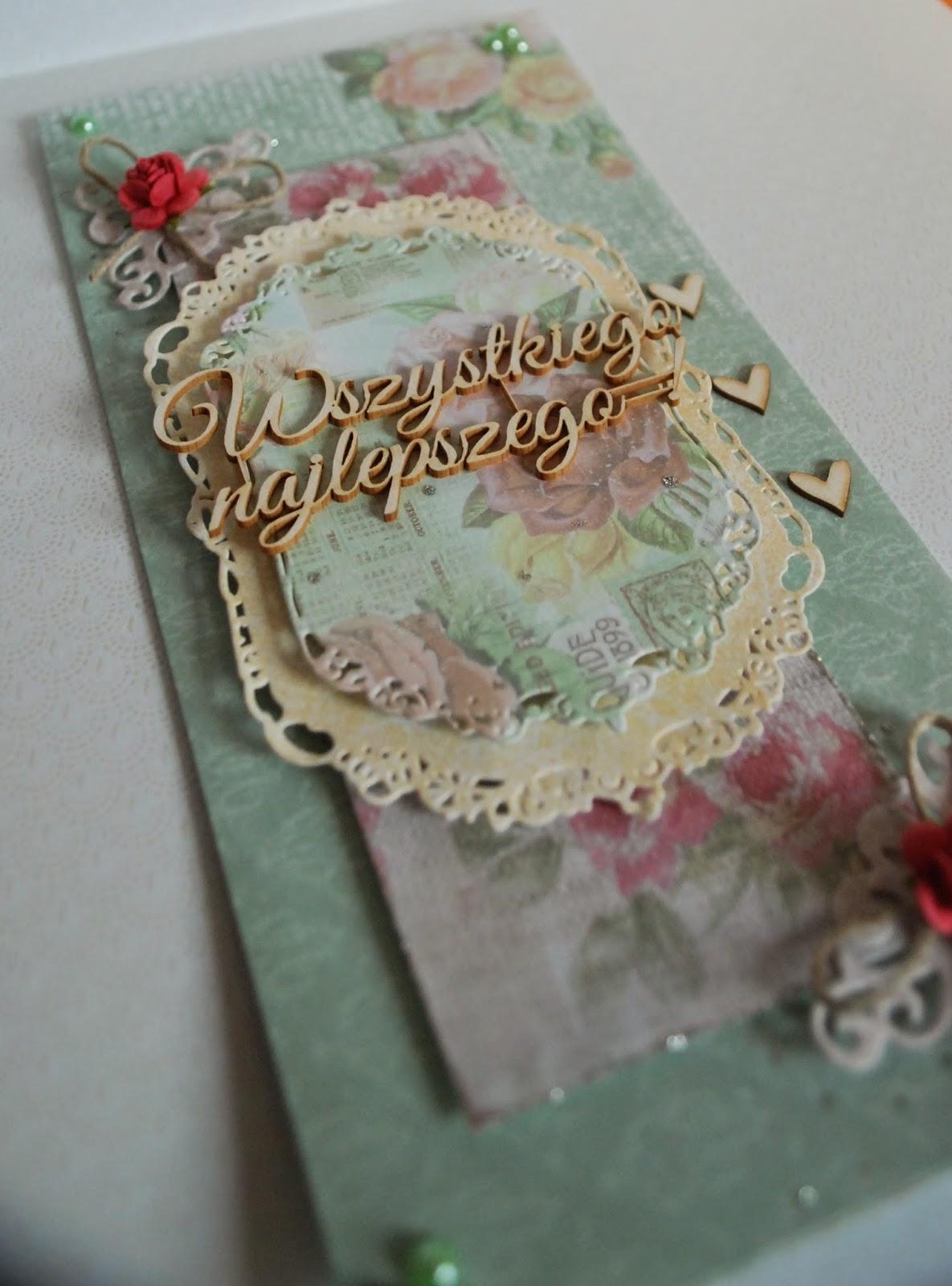 kartka urodziny, pastele, delikatne kolory