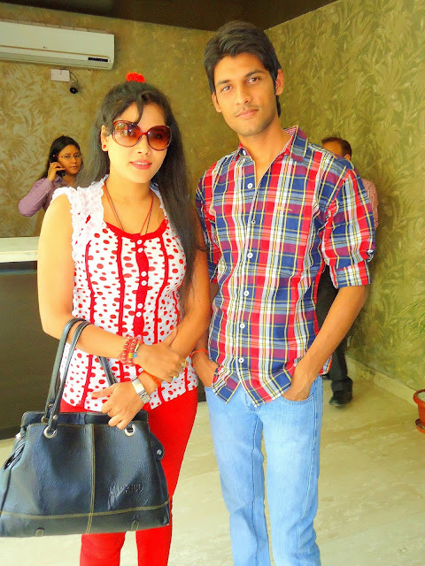 Anshu Dikshant with Bhojpuri Actress Seema Singh