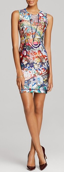Space Junk Bonded Racer Dress