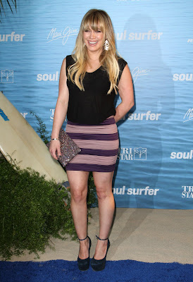 Hilary Duff In A Tight Miniskirt