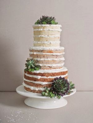 Barely Frosted Wedding Cake