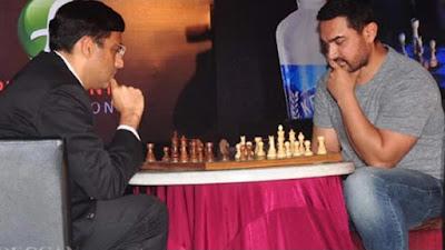 amir khan, v anand, vishwanathan, chess champion, grand master, world champion, maharashtra chess league, aamir, khan, playing, chess
