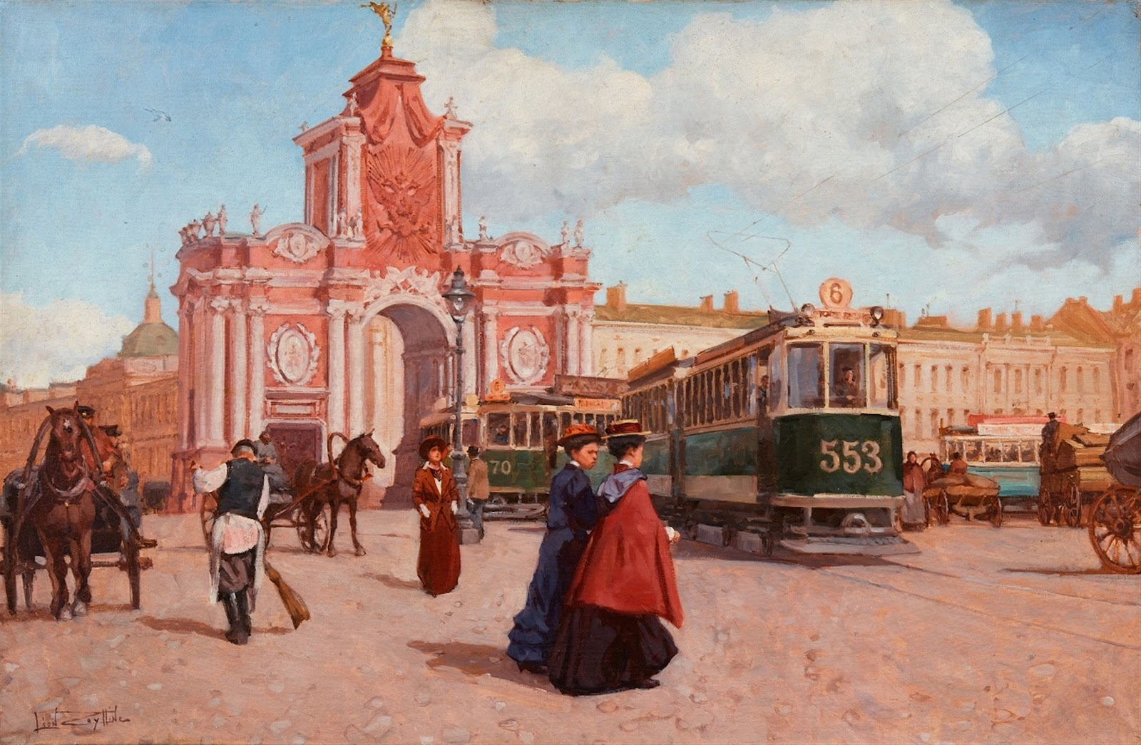 Leon Zeytline View of Moscow  oulevard