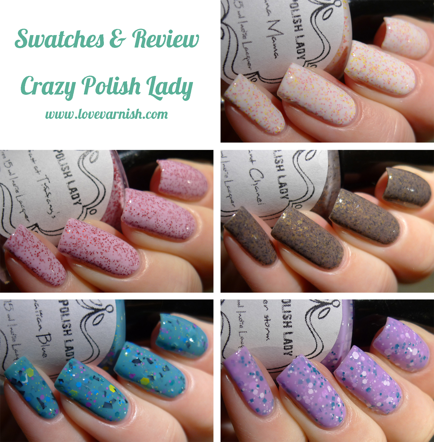 Crazy Polish Lady swatches review