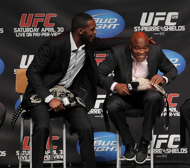 ufc mma fighters jon jones and anderson silva image picture