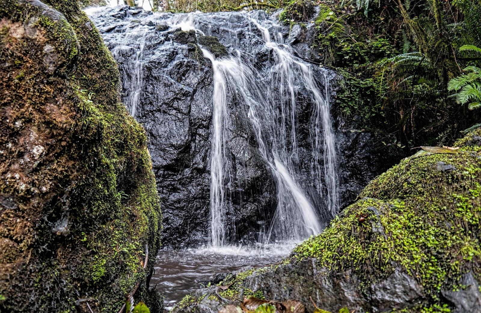 Falls Framed by Rocks