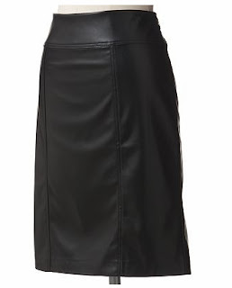 Kohl's Faux Leather Skirt