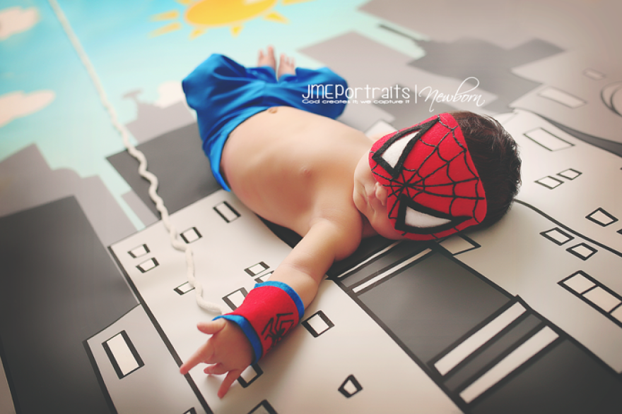 #10 Baby Spiderman - 22 Geeky Newborns Who Are Following In Their Parents' Nerdy Footsteps