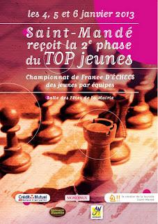L'affiche du Top Jeunes à Saint-Mandé © Maurice Chesneau