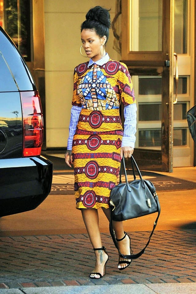 Afroccentric Fashion Blogs Look Of The Day Rihanna In A