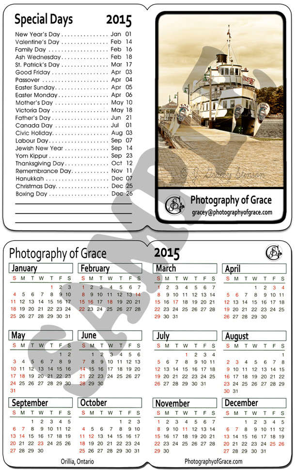 A pocket calendar template suitable for business use; this is in photoshop's native psd format.
